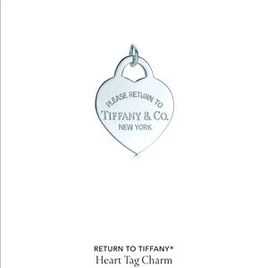 Tiffany charm, can be put on chain for necklace.